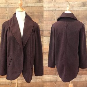 Anthropologie Lilka Wine Cocoon Jacket Small